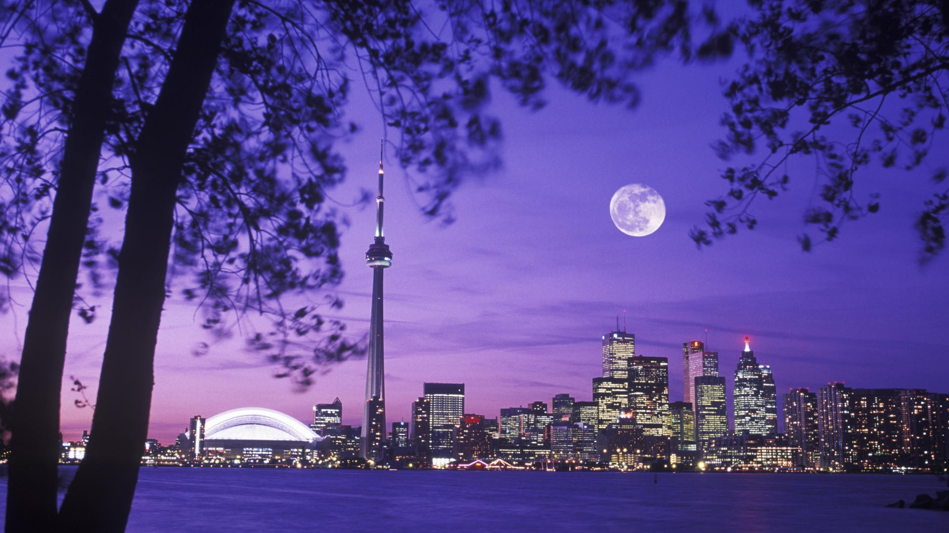 hd-wallpaper-Toronto-Skyline-Night-Moon-Scenery-Canada